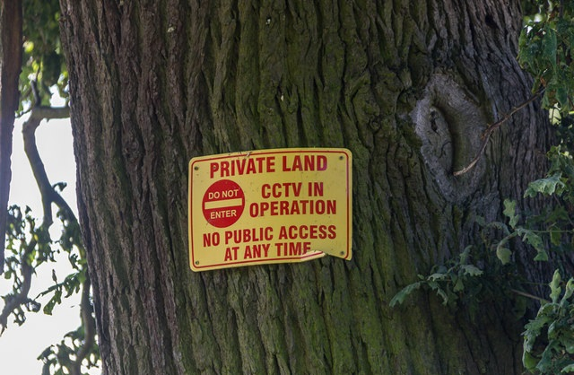 CCTV and the Law uk private land cctv signs